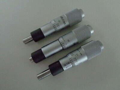 Mitutoyo 148-811 .001 X .500 Micrometer 3 Piece Lot - Excellent Condition
