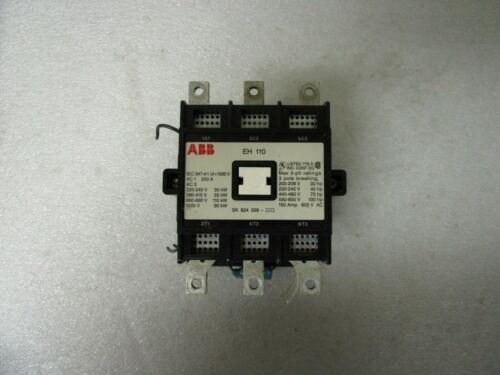 ABB EH 110 Motor Starter Contactor 120V Coil EH110C-*L  SK 824 029 3 Pole Break