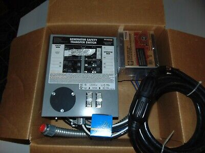 New Generac Transfer Switch Kit For Portable Generators 30 Amp 6-10 Circuits