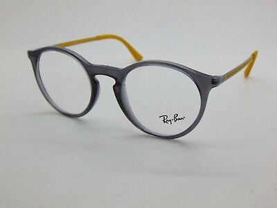c51f367bd1 NEW Authentic Ray Ban RB 7132 5722 Grey Yellow 48mm Eyeglasses