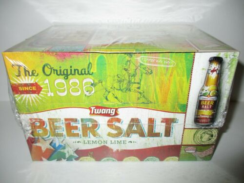 Twang the Original Beer Salt Lemon Lime (24) 1.4 oz Bottles Sealed Box