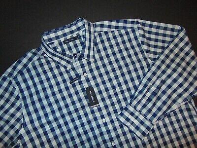NWT, NAUTICA Men's Button Front Shirt ~ 3XL ~Big & Tall ~ Long Sleeves  ~ Checks