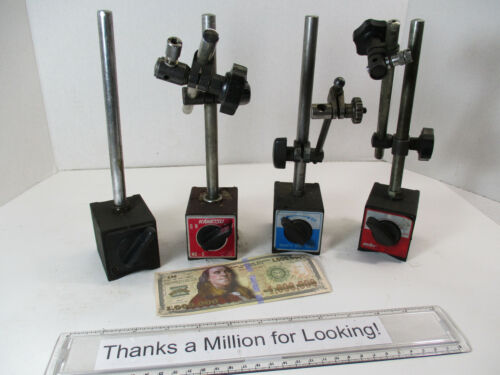 (4) Machinist Magnetic Bases, Mag Base, Kanetsu # MB-B, MHC, (2) Others, w/ Arms