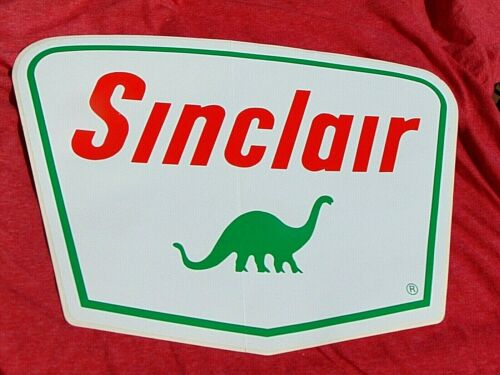 SINCLAIR oil gas station ADVERTISING SIGN STICKER high quality DINO 15 x 11