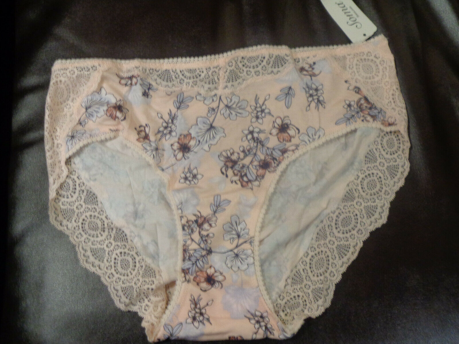 SOMA EMBRACEABLE LACE GEO BOYSHORT PANTIES IN NOVEL GEO OCEAN AIR BLUE NEW
