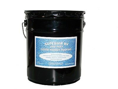 Rubber Roof Coating for RV / Camper / Trailer / Motorhome / 5th Wheel / 5 Gallon