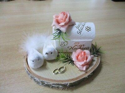 Geldgeschenk zur Hochzeit, Tauben, Truhe,auf Birke, Super Geschenkidee - Neu