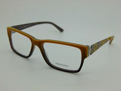 NEW Authentic DIESEL DL 5027 041 Yellow-Grey Gradient 55mm RX Eyeglasses