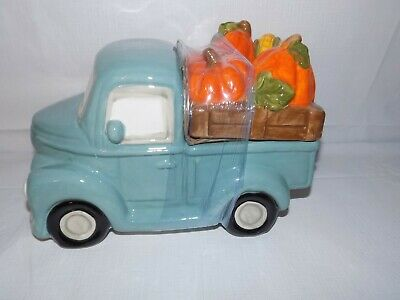 Hello Fall Truck Cookie Jar Pumpkins and Corn Farmhouse Harvest Thanksgiving