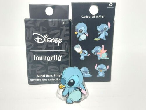 Lilo & Baby Stitch With Diaper Pacifier Loungefly Mystery Blind Box Pin Disney