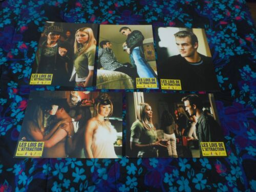 RULES OF ATTRACTION  - ORIGINAL SET OF 8 FRENCH LOBBY CARDS - JESSICA BIEL