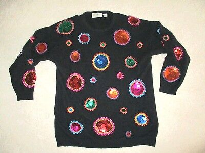 Ugly Christmas Sweater Large Awful Ornaments So Bright and Shiny !! -  Large - Ugly Ornaments