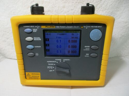 Fluke 1735 Three Phase Power Logger Analyst 10.24 kHz in case with power supply