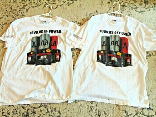 2 vintage WINCHESTER TOWERS OF POWER AA  XL T SHIRT guns ammo trap ADVERTISING