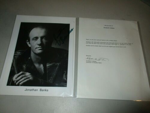 Jonathan Banks Signed Autograph 8x10 Photo Breaking Bad, Call Saul W/ Letter