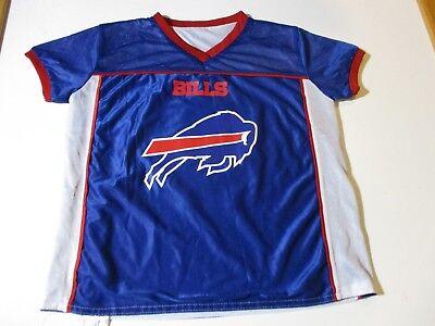 BUFFALO BILLS 2-SIDED FLAG USA FOOTBALL JERSEY-YOUTH LARGE RARE NFL PLAY 60  NY 4d35ca0c3