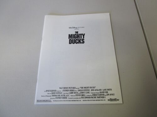 MOVIE PRESS KIT THE MIGHTY DUCKS EMILIO ESTEVEZ   MOVIE  PHOTO, MOVIE INFO