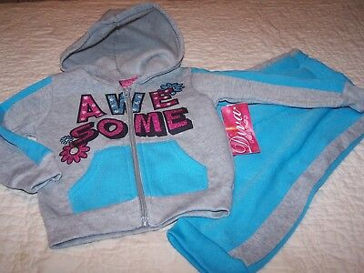 Awesome Outfit (Size 4T~Blue & Gray (AWESOME) Outfit (Hooded Jacket & Pant)~Diva/$General~NWT~V6)