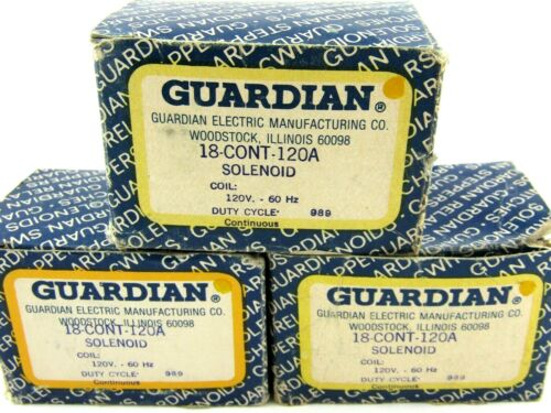 NEW Guardian Electric 18-C-120A Solenoid Valve Coil, 18CONT120A  Lot of 3