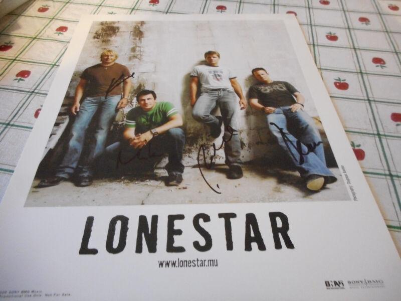 Autographed Lonestar Color 2005 Publicity Photo