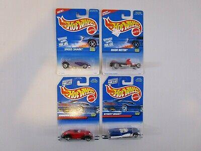 LOT OF (4) HOT WHEELS: '95 SPEED SHARK; '96 RIGOR MOTOR; '97 AUBURN 852, STREET