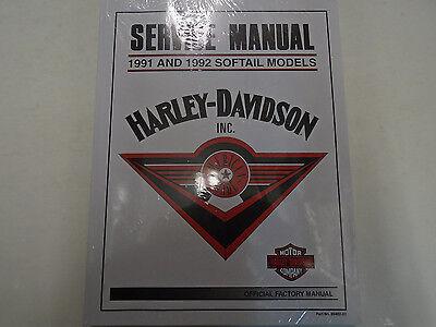 1991 1992 HARLEY DAVIDSON SOFTAIL MODELS Service Shop Repair Manual OEM NEW