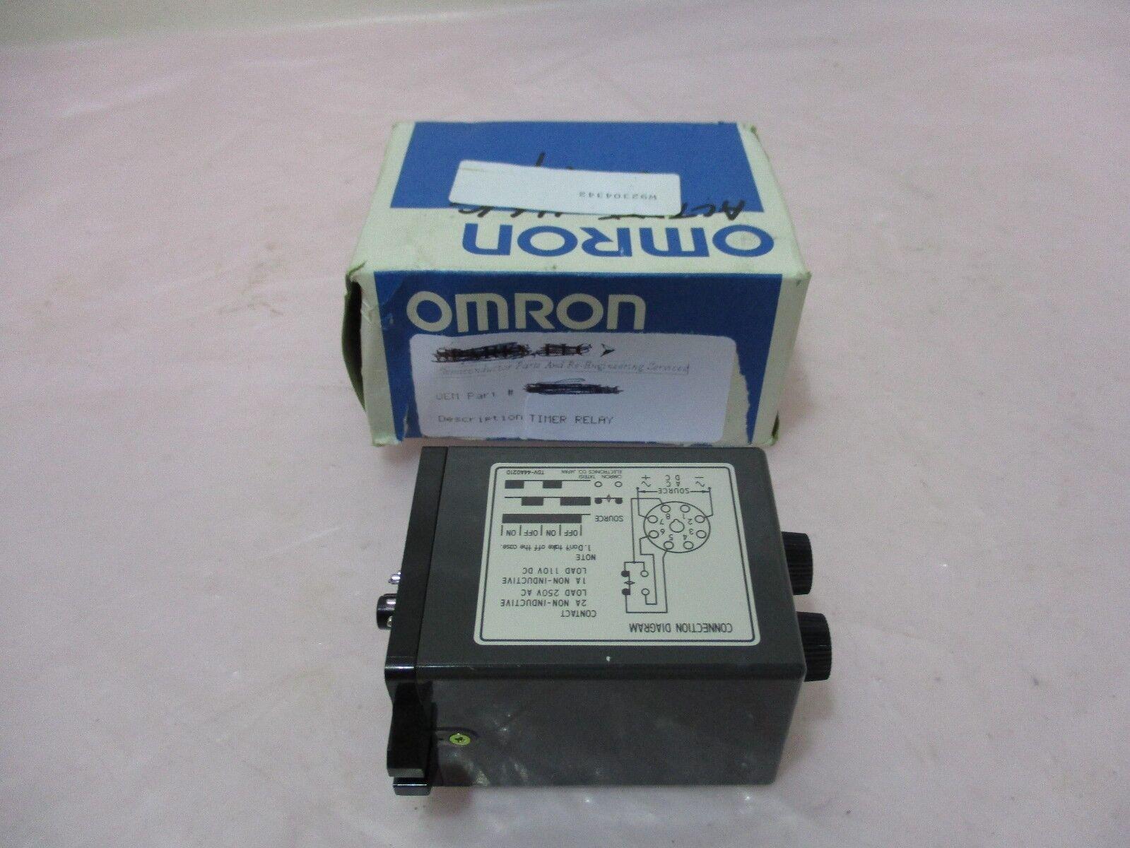 Omron TDV-1 Twin Timer, Relay, 24VDC, 50/60Hz, 420381