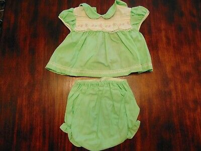 Vintage Cradle Togs Baby Girls 2pc. Summer Outfit/Doll Clothes Medium 13-18 Lbs, used for sale  Shipping to India