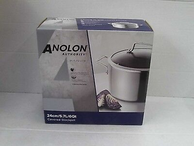 Anolon Authority Multi-Ply Clad - 24cm Covered Stockpot Anolon Stainless Steel Stock Pot