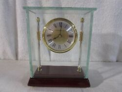 HOWARD MILLER KENSINGTON ROSEWOOD CLOCK GLASS BRACKET CASE, TABLE, MANTLE, SHELF