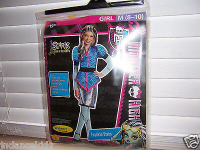 Monster High Scaris Frankie Stein Girls Costume Size M (8-10) Halloween Dress Up