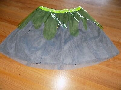 Size Large 10-12 Cat & Jack Halloween Tutu Skirt Smoke Gray Lime Green Slime New ()