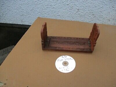 CARVED WOODEN  EXPANDING BOOK  DVD  or  CD  SHELF.  FOLDING.  FREE  DELIVERY.