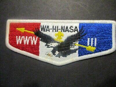 OA Lodge III WA-HI-NASA red white and blue flap