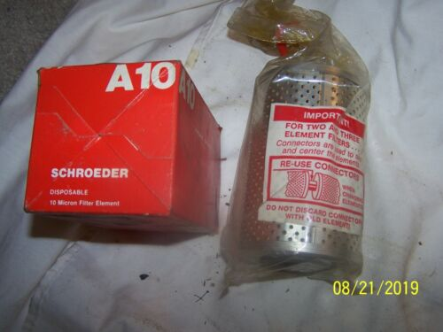 Schroeder A10 Disposable Micron Hydraulic Filter Element
