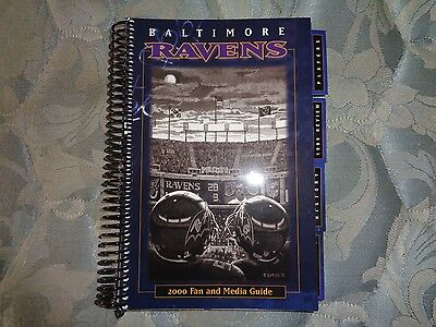 2000 Baltimore Ravens Media Guide Yearbook Super Bowl Champions  Program Nfl Ad