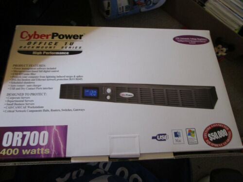 CyberPower OR700LCDRM1U Smart App Intelligent UPS MIB all disc paperwork there