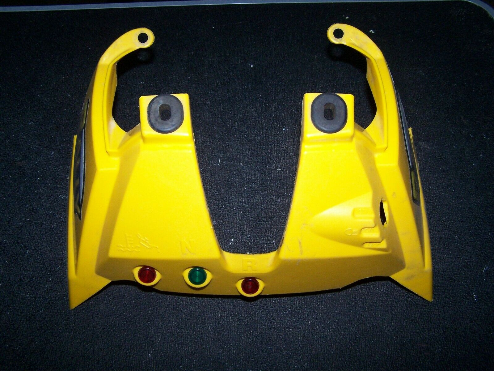 CAN AM BOMBARDIER RALLY 175 200 INDICATORS COVER HANDLE BAR DASH BOARD YELLOW