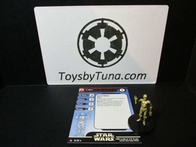 Star Wars Miniatures C-3PO Rebel Storm RS  w/ Card mini RPG Legion Assault