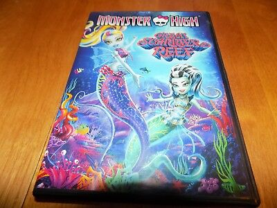 MONSTER HIGH GREAT SCARRIER REEF Universal Animated Feature DVD - Monster High Universe