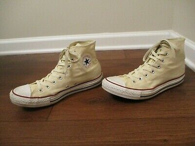 Used Size 9 Fit Like 9.5 - 10 Converse Chuck Taylor All Star Hi Shoes Cream