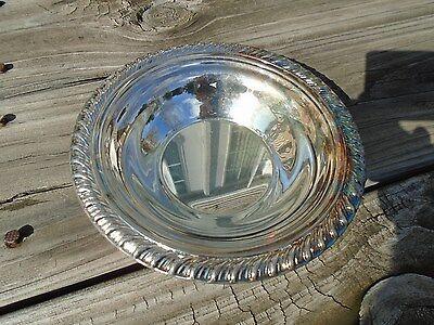 Vintage Serving Bowl Silverplate International silver  Bon Bon Bowl handcrafted