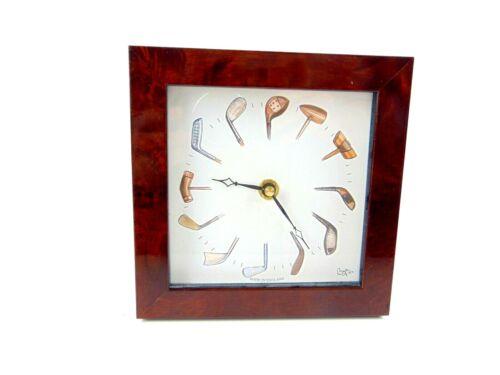Bryn Parry Studios Golf Desk Clock Made In England