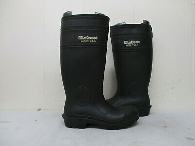 Lacrosse Black Rubber Waterproof Rainboots Boots Mens Size 5, used for sale  Shipping to Canada