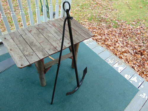 """ANTIQUE VINTAGE SHIPS BOAT ANCHOR 36""""T HAND FORGED WROUGHT IRON HOME GARDEN DEC"""