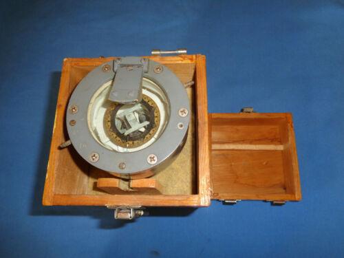 Vintage Hipco Flashlight Compass w/Box Military, Naval, Nautical WW2 Era Lionel?