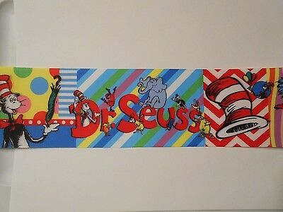 Dr Seuss Cat In Hat Grosgrain Cheer Bow Ribbon 4 hairbow  3