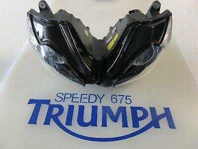 TRIUMPH DAYTONA 675 HEADLIGHTS LEFT HAND DIP PN T2707600 UK 2006   20
