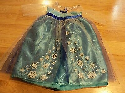 Size 4-6X Disney Frozen Queen Elsa Of Arendelle Costume Dress Up Halloween EUC
