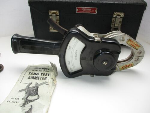 COLUMBIA ELECTRIC TONG TEST AMMETER SET w CASE